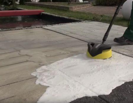 Czyszczenie tarasu z płyt betonowych