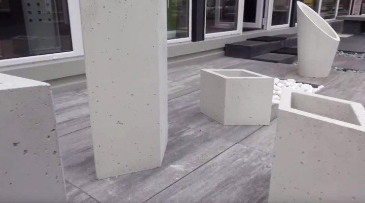 Beton architektoniczny ogrodzenia, donice