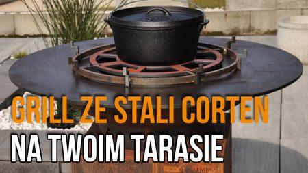 Przepiękny Grill ze Stali Corten