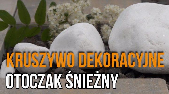 Kruszywa dekoracyjne do Ogrodu – Otoczak śnieżny, Biały